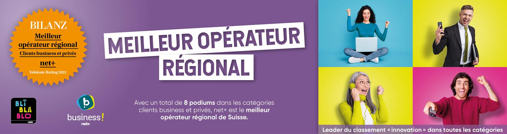 net+ sacré meilleur opérateur régional !